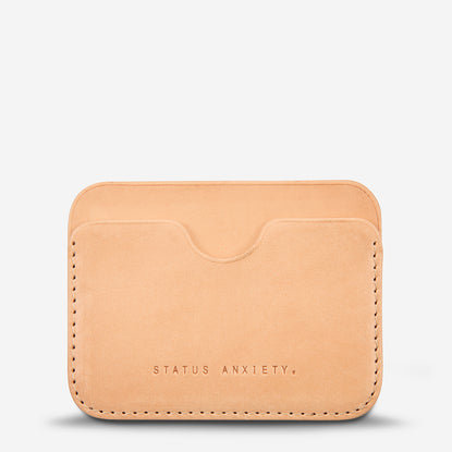 Status Anxiety Gus Card Wallet - Tan