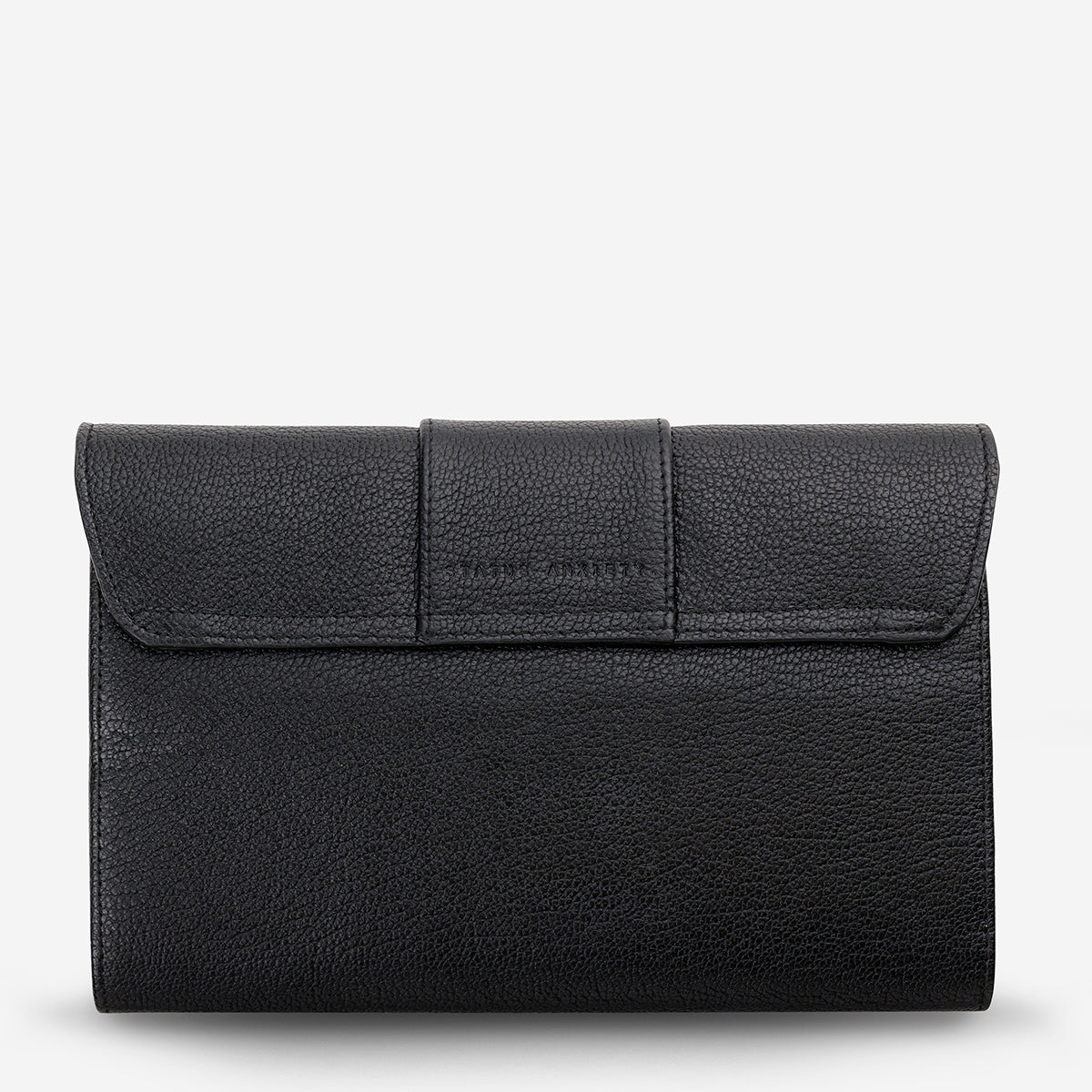 Status Anxiety 174 Leather Clutch Ida Black Shop Official