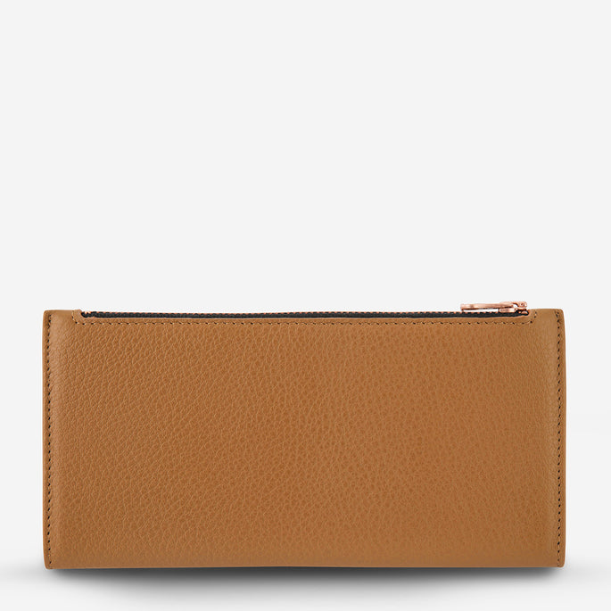 Status Anxiety In The Beginning Women's Leather Wallet - Tan
