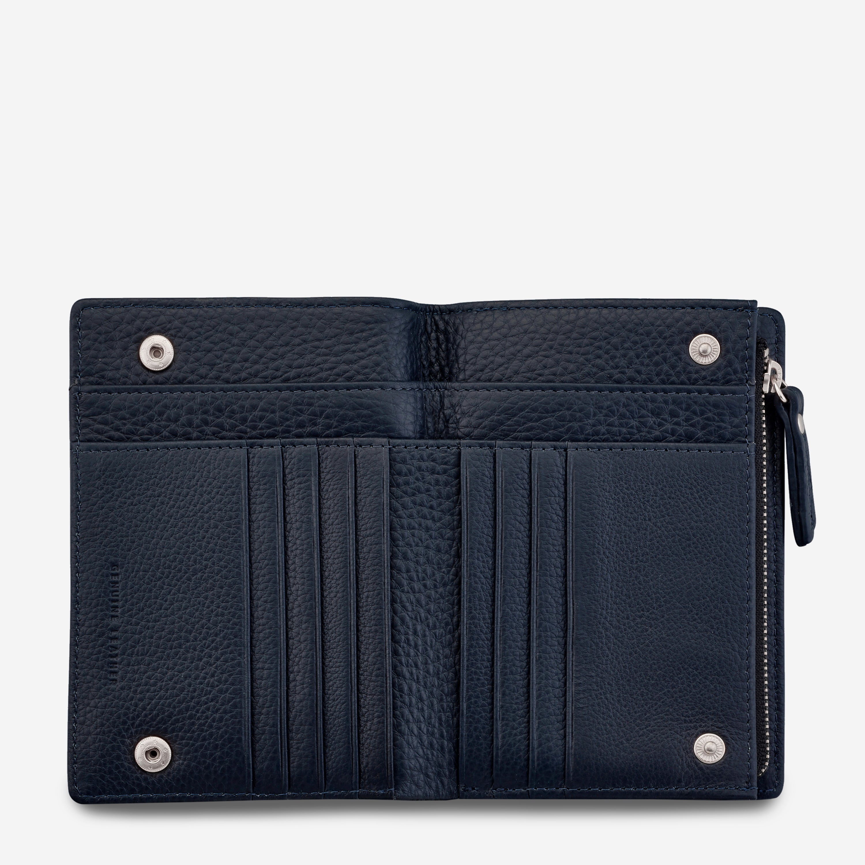 Status Anxiety Insurgency Women's Leather Wallet - Navy Blue