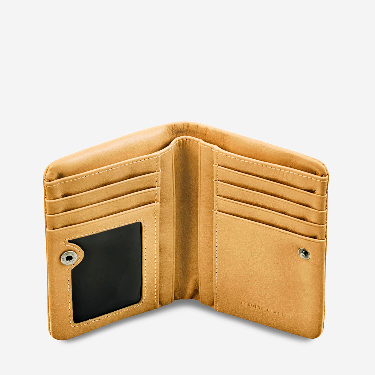 Status Anxiety Is Now Better Women's Small Leather Wallet - Tan