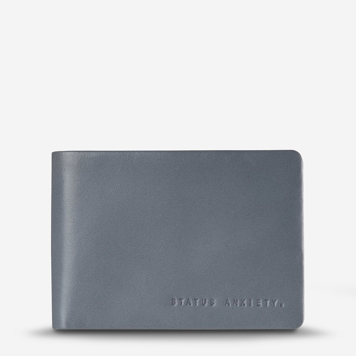 Status Anxiety Jonah Leather Bi-Fold Wallet - Slate