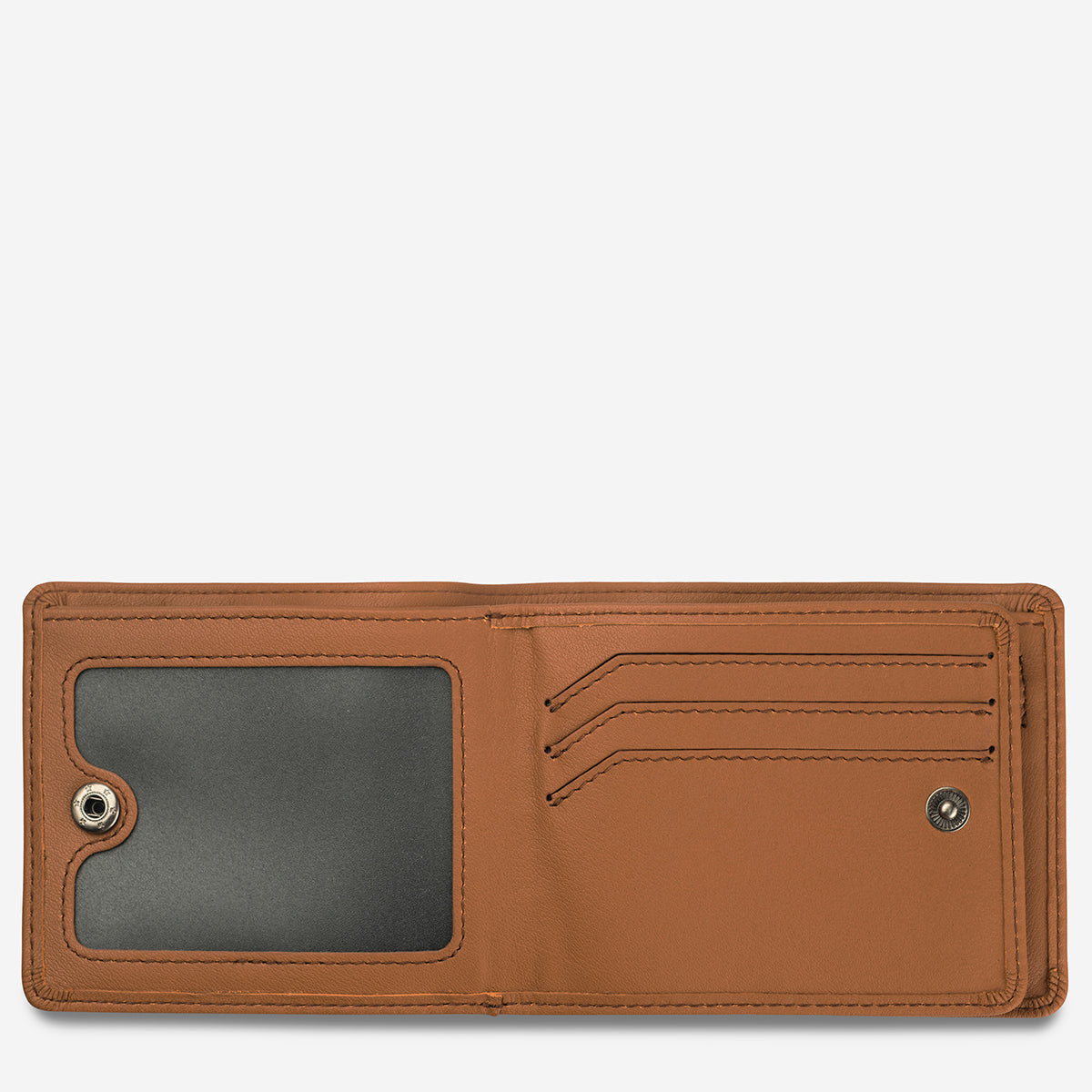 Status Anxiety Leonard Men's Bi-Fold Leather Wallet - Camel