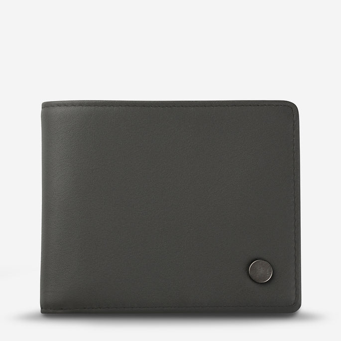 Status Anxiety Leonard Men's Leather Wallet - Slate