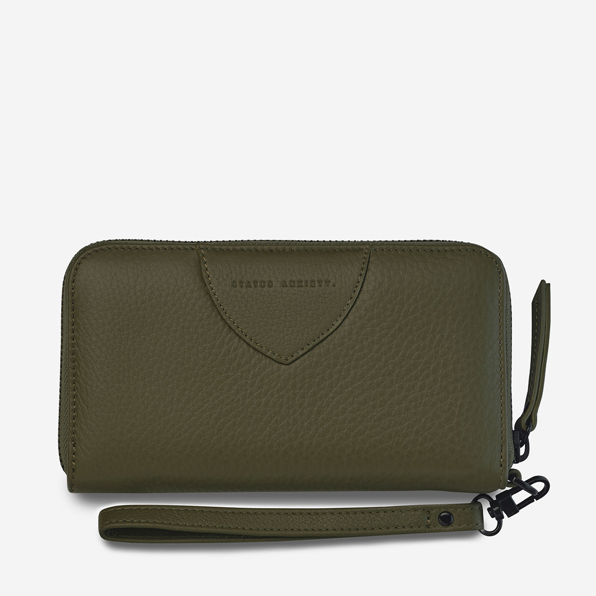 Status Anxiety Moving On Women's Leather Wallet - Khaki