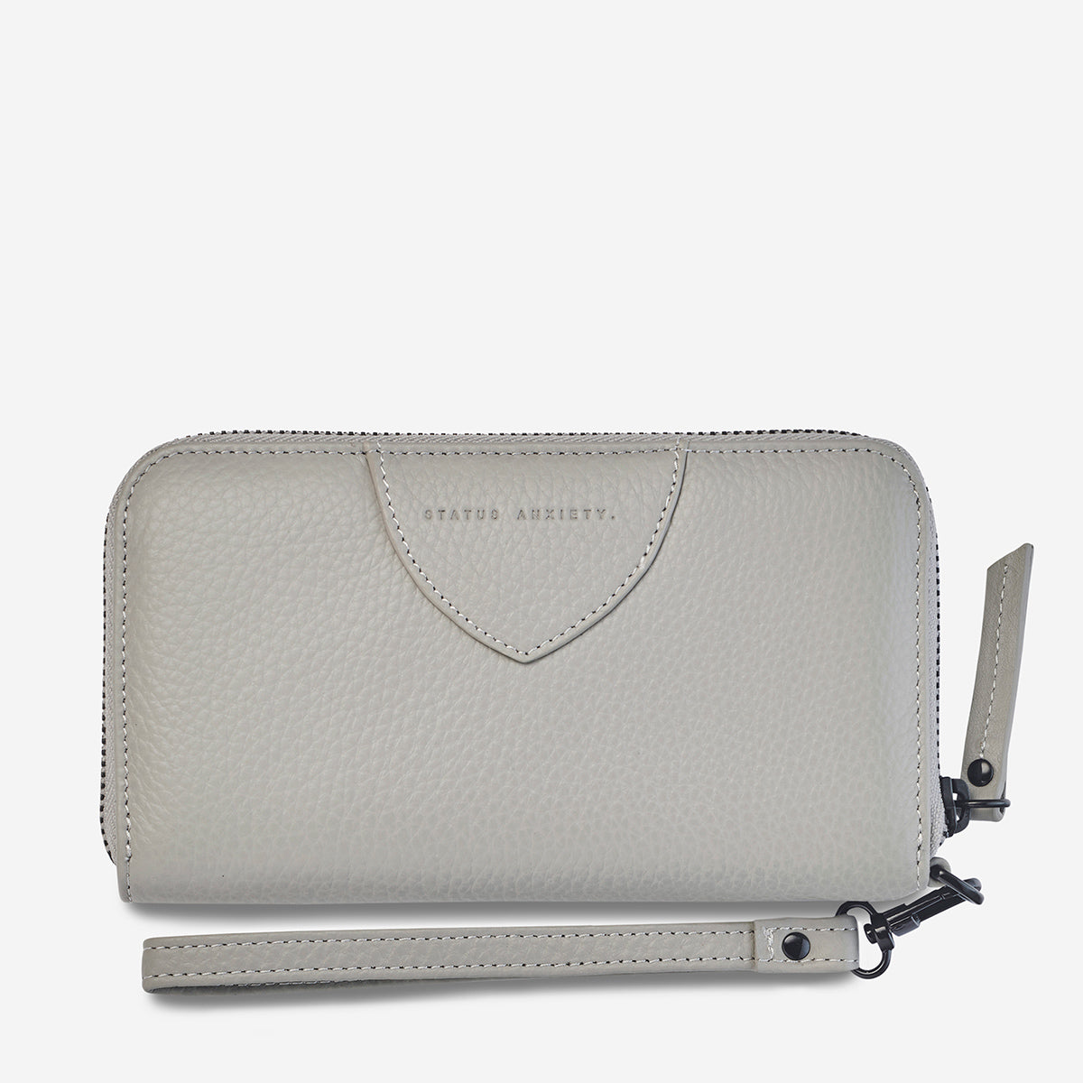 Status Anxiety Moving On Women's Leather Wallet - Light Grey