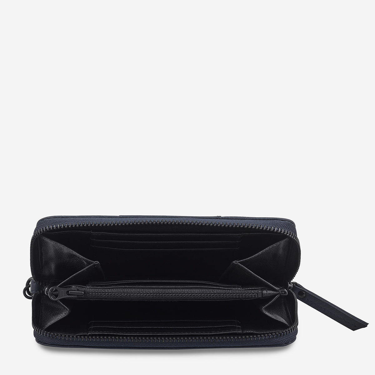 Status Anxiety Moving On Women's Leather Wallet - Navy Blue