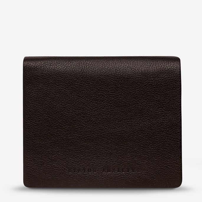 Status Anxiety Nathaniel Men's Leather Wallet - Chocolate