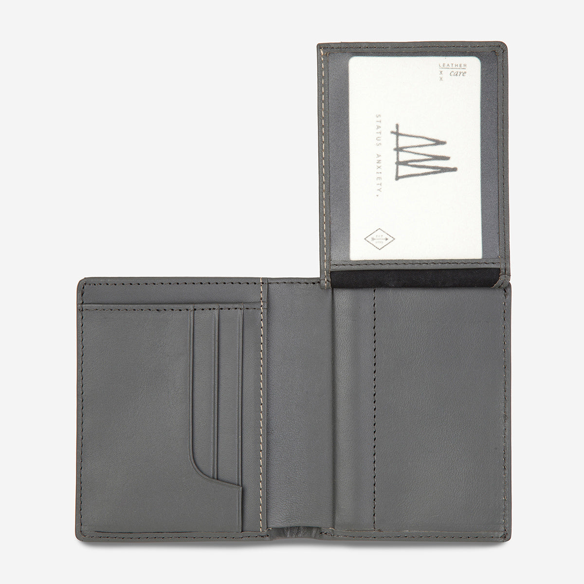 Status Anxiety Nathaniel Men's Leather Wallet - Slate