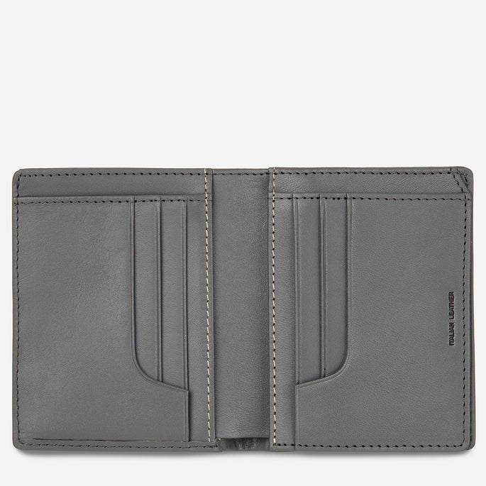Status Anxiety Nathaniel Leather Wallet - Slate
