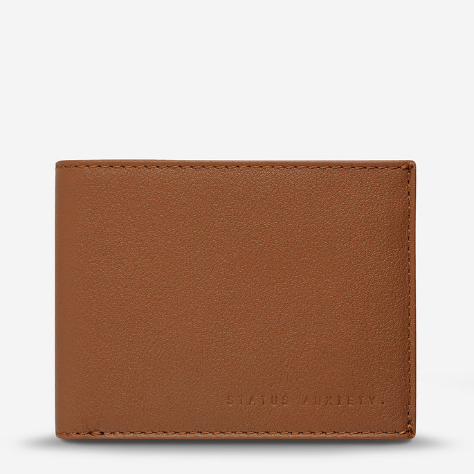 Status Anxiety Noah Men's Leather Wallet - Camel