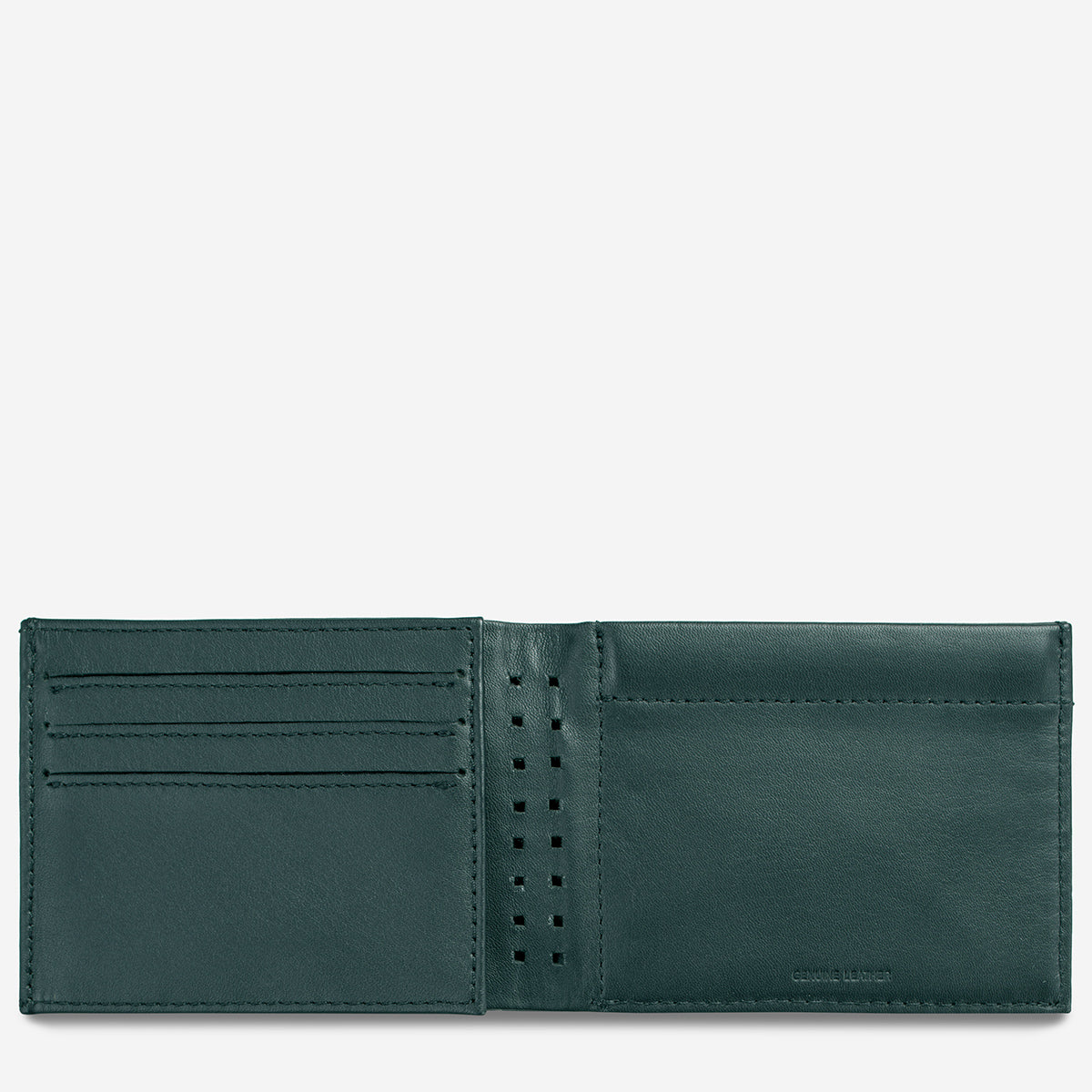 Status Anxiety Noah Men's Leather Wallet - Teal