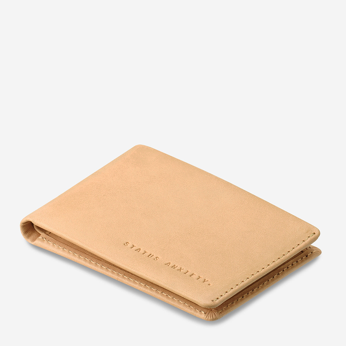 Status Anxiety Otis Men's Leather Wallet Tan