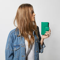Status Anxiety Outsider Women's Leather Wallet Emerald