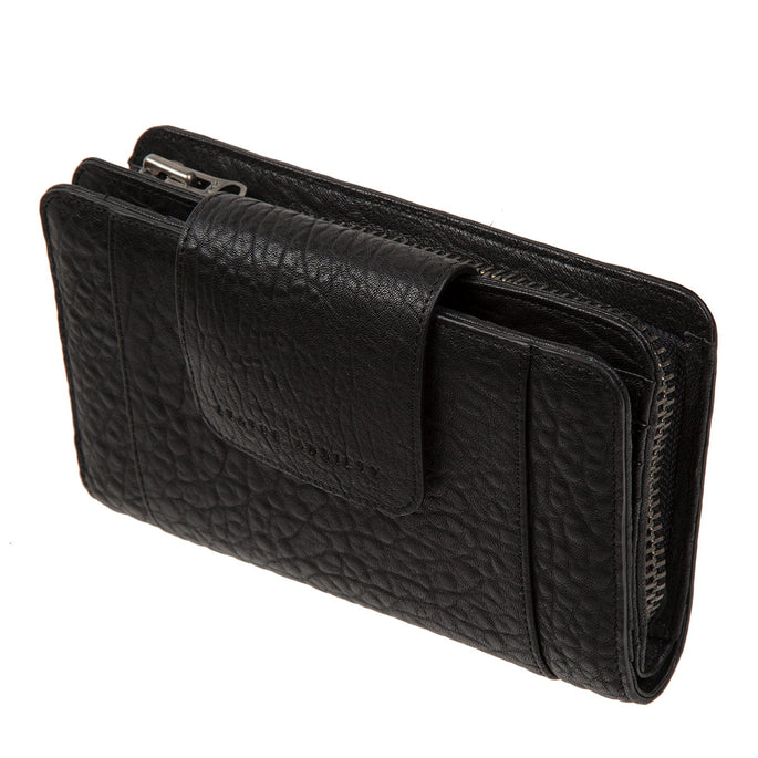Status Anxiety Precipice Leather Wallet - Black