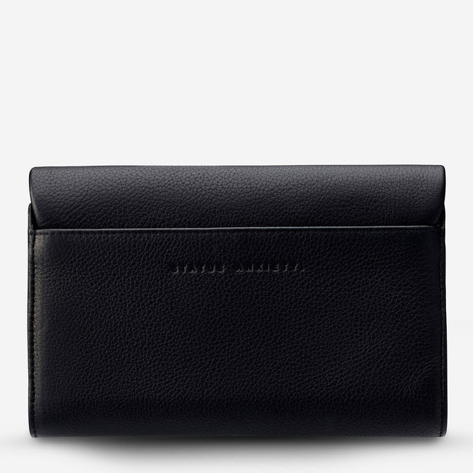 Status Anxiety Remnant Women's Large Leather Wallet - Black
