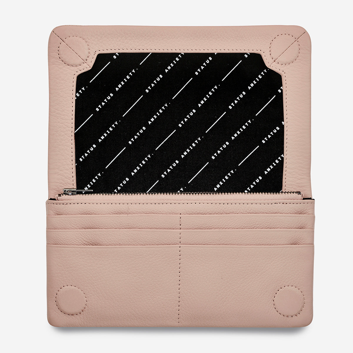 Status Anxiety Some Type Of Love Leather Wallet - Dusty Pink