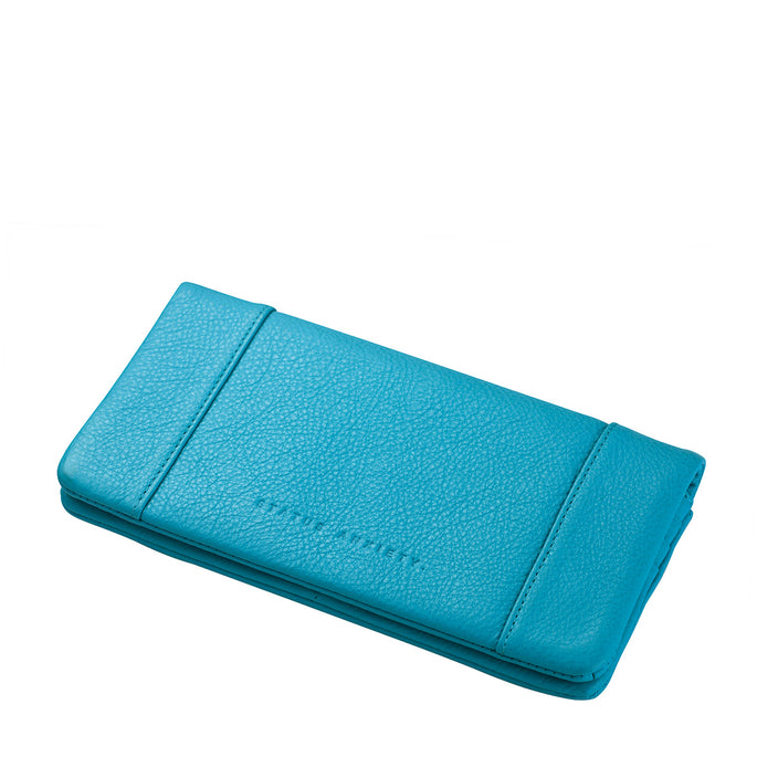 Status Anxiety Some Type Of Love Leather Wallet - Pool