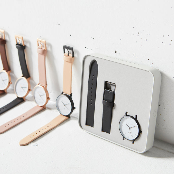 Status Anxiety Inertia Leather Unisex Watches