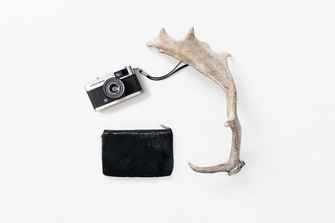 Status Anxiety Maud Womens Leather Fur Pouch