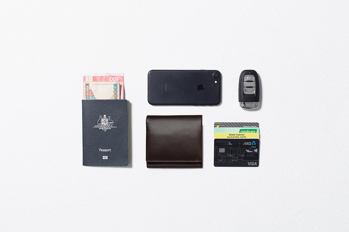 Status Anxiety Vincent Men's Leather Tri-fold Wallet