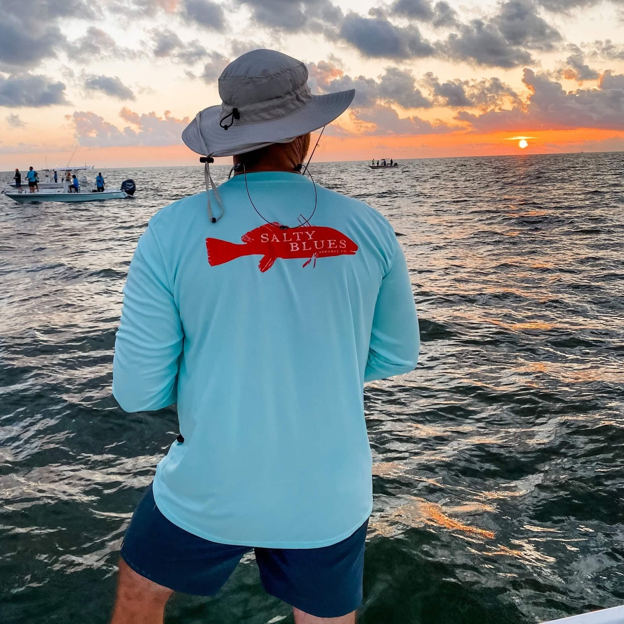 Redfish Performance (Seafoam) - Men's Performance Shirt - Latitudes & Attitudes LLC