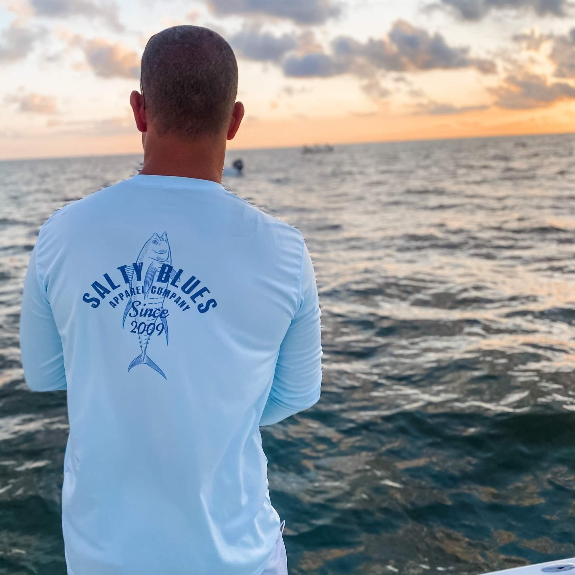 Sea Branded Performance (Arctic Blue) - Men's Performance Shirt - Latitudes & Attitudes LLC