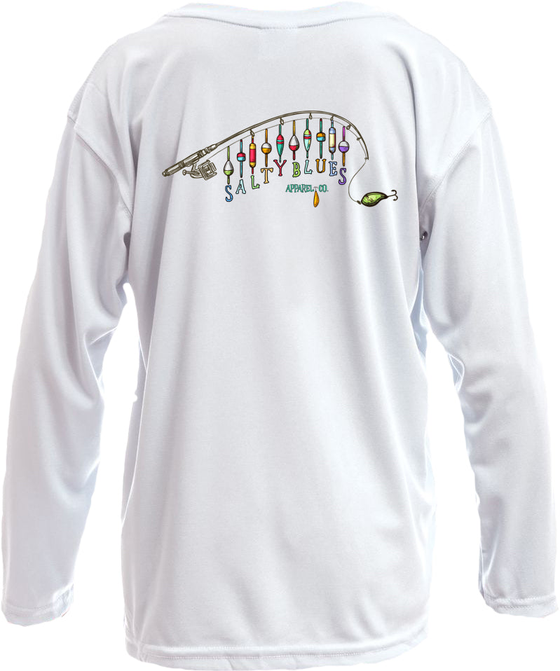 Youth Lures (White) - Youth Performance Shirt - Latitudes & Attitudes LLC