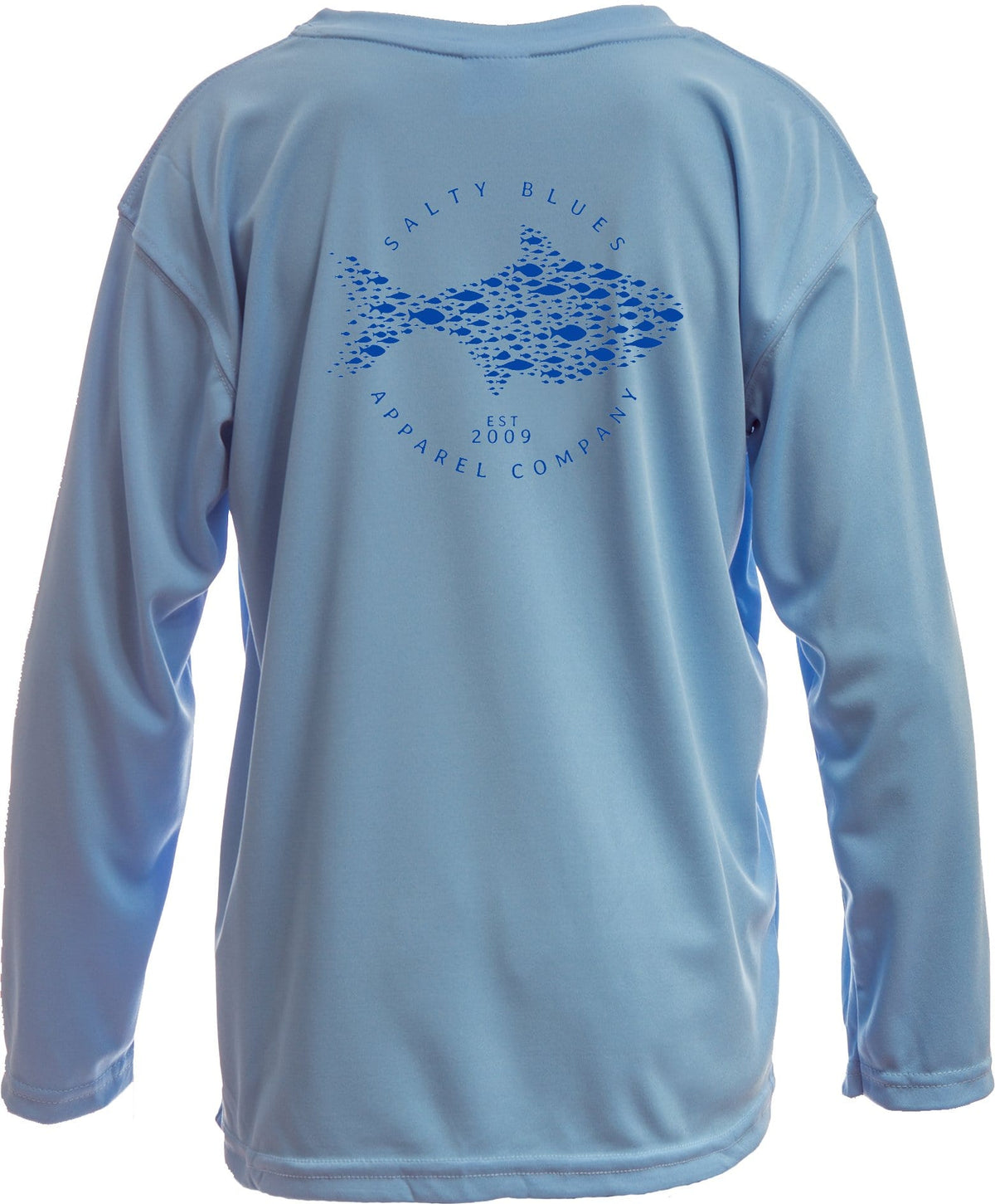 Youth Wide Net (Blue) - Youth Performance Shirt - Latitudes & Attitudes LLC