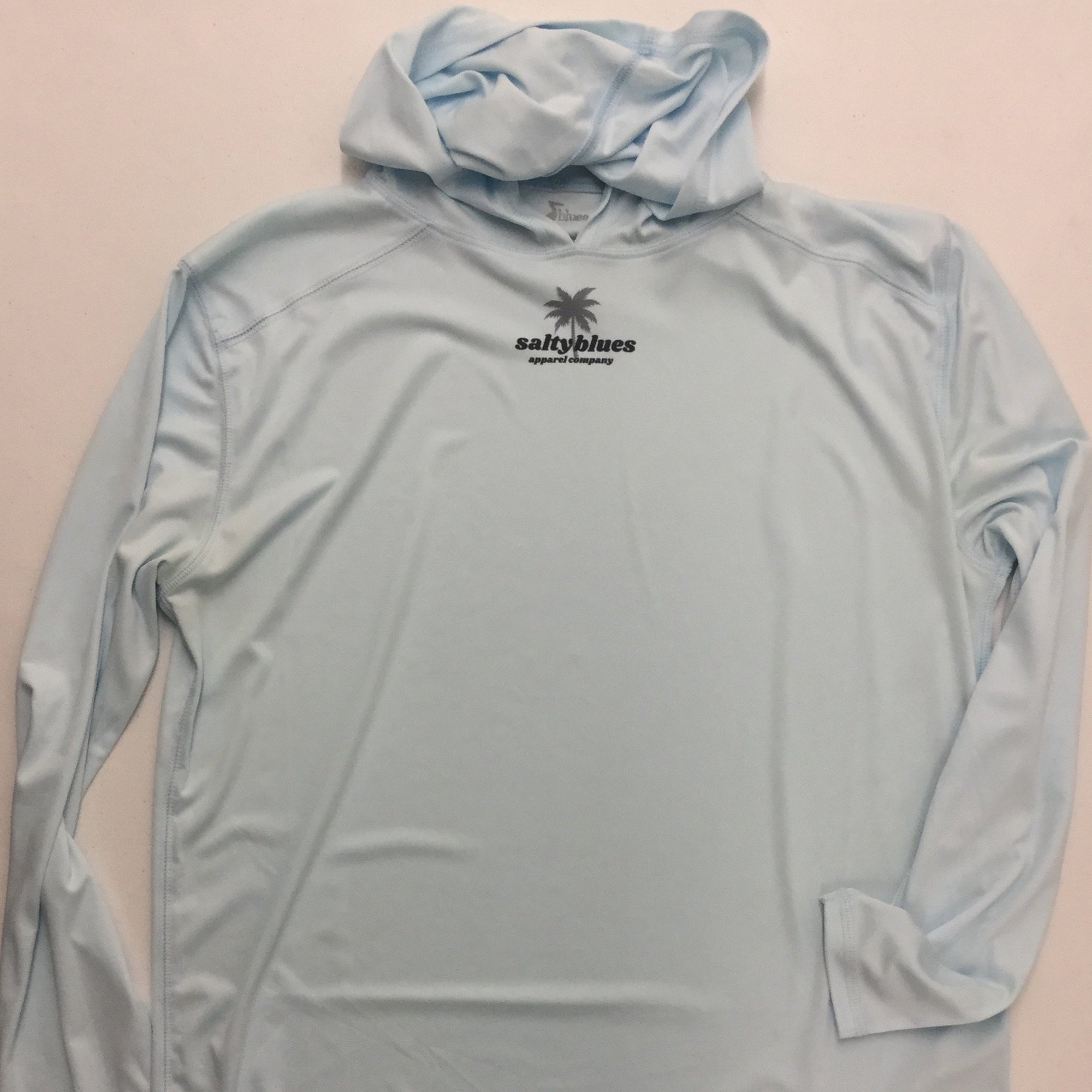 Lone Palm Performance Hoodie (Arctic Blue) - Men's Performance Shirt - Latitudes & Attitudes LLC