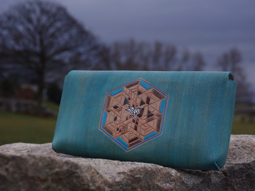 Humsa Leather Clutch - The Naked Alien