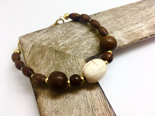 Sharp and Ready - Wooden Bracelet