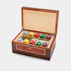 Poker Chip Box in Brown Glamour-ANTORINI® (4293295243308)