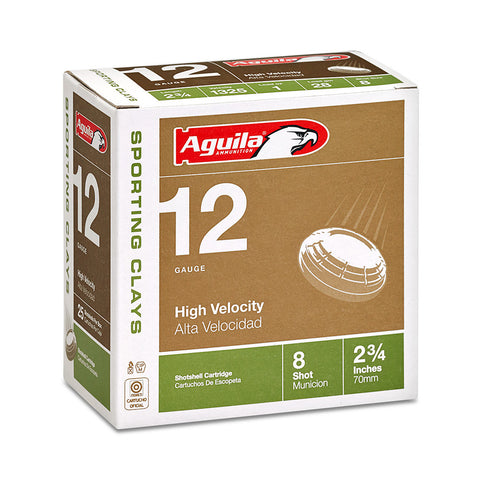 "Aguila 12 Gauge #7.5 Shot High Velocity Sporting Clay 2 3/4"" 25 Rnd Box"