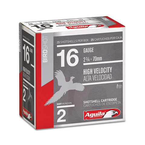 "Aguila 16 Gauge #4 Shot High Velocity 2 3/4"" 25 Rnd Box"