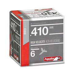 "Aguila 410 Gauge High Velocity 00 Buckshot 2.5"" 25 Rnd Box"