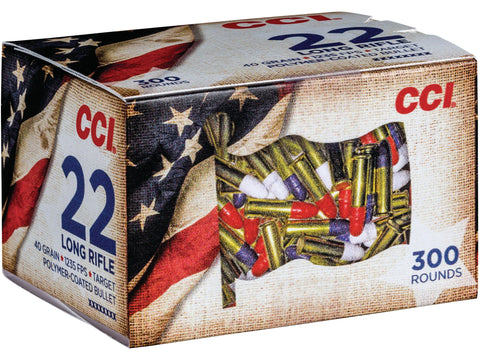 CCI 22 LR 40 Gr LRN HV Patriot Pack (300)