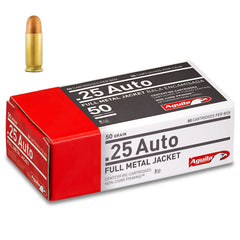 Aguila .25 Auto ACP Full Metal Jacket 50 Gr 50 Round Box
