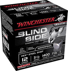 "Winchester Blindside 12 Gauge 3.5"" 1-5/8 oz 1 Shot 25 Round Box SBS12L1"