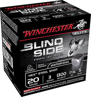 "Winchester Blindside 20 Gauge 3"" 1-1/8 oz 5 Shot 25 Round Box SBS2035"