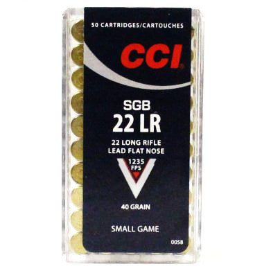CCI SGB Small Game Bullet 40 Grn 22LR Lead Flat Nose 50 Pk