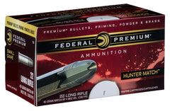 Federal 22LR 40 Gr HV HP Hunter Match (50)