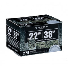 Federal 22 LR 38 Gr Plated Lead HP Field Pack