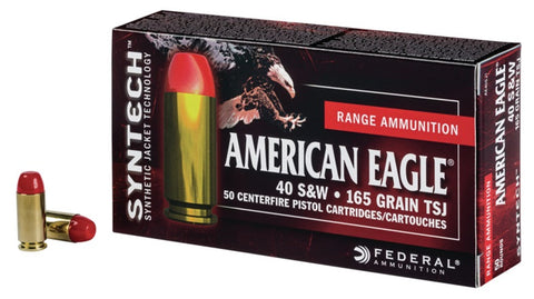 Federal 40 S&W 165 Gr TSJ American Eagle SYNTECH (50)