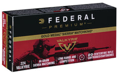 Federal 224 Valkyrie 90 Gr Gold Medal Sierra MatchKing (20)