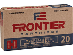 Frontier Cartridge Military Grade Ammunition 223 Rem 55 Gr Hornady HP Match
