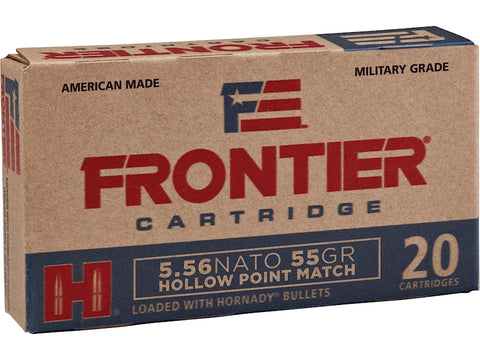 Frontier Cartridge Military Grade Ammunition 5.56 NATO 55 Gr Hornady HP MATCH