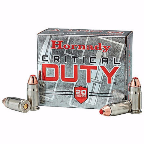 Hornady Critical Duty 9MM 135 Gr FlexLock 20 Rnd Box