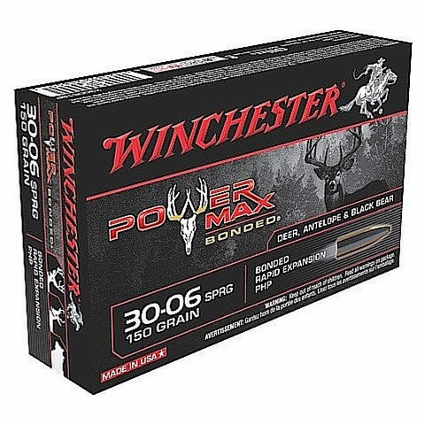 Winchester Power Max Bonded 30-06 Springfield PHP 150 Gr 20 Round Box