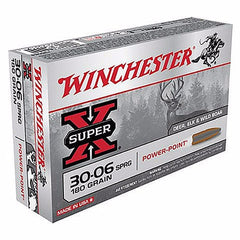 Winchester Super X 30-06 Springfield 180 Gr Power-Point 20 Rnd Box
